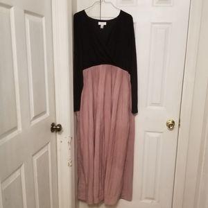 Black and Blush Maternity Dress